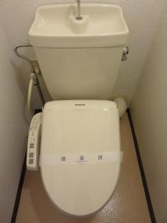 うれしい温水洗浄便座付き!