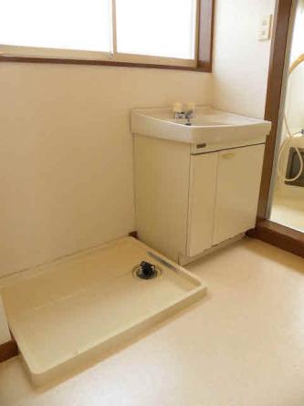 洗面、洗濯機置場。
