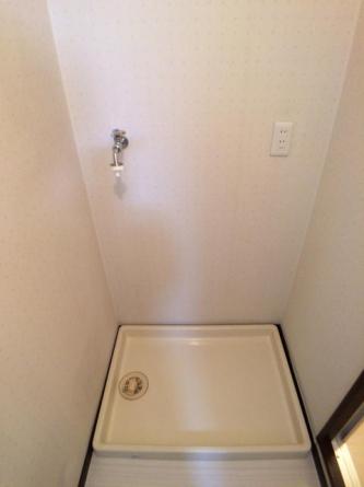 室内洗濯機置き場 防水パンもあります