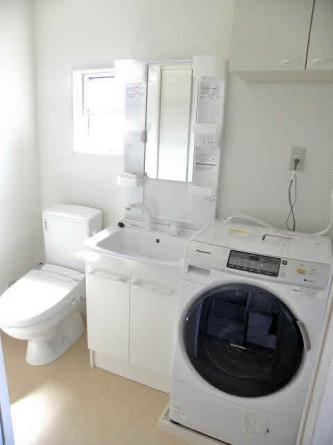 ドラム式洗濯機完備。乾燥でできます。