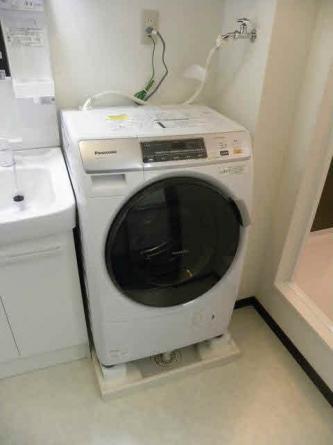 ドラム式洗濯機完備
